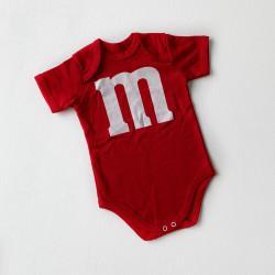 Боди M&M's красный