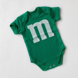 Боди M&M's зелёный