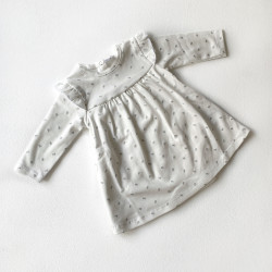 Платье-боди, цвет молочный