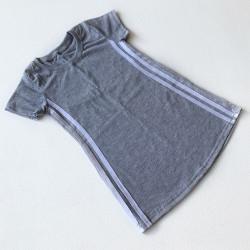 Платье - футболка, цвет серый