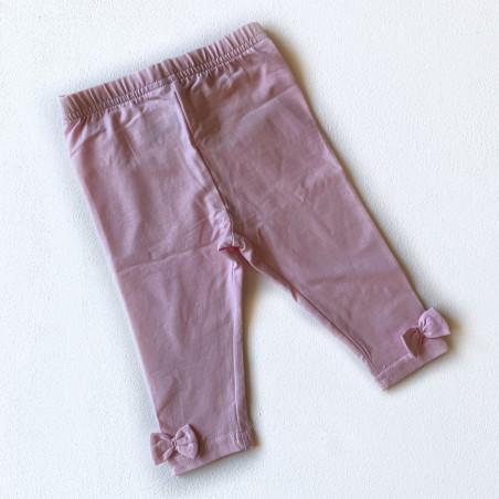 Леггинсы с бантиками, цвет светло-розовый