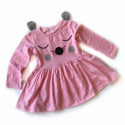 Платье с ушками, цвет розовый