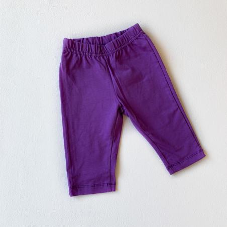 Леггинсы укороченные, цвет фиолетовый