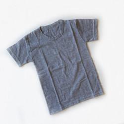 Хлопковая футболка, цвет серый